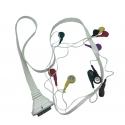 EDAN CABLE PATIENT ECG POUR ELECTRODES A UU - DX12