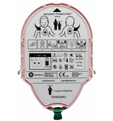 HEARTSINE PACK ELECTRODES + BATTERIE PEDIATRIQUE PAD-PAK-04